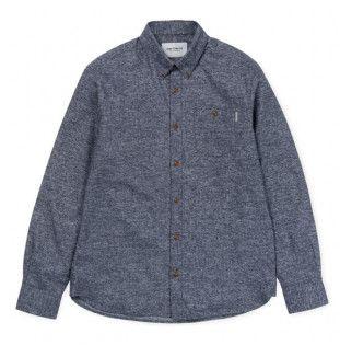 Camisa Carhartt: LS Cram Shirt (Dark Navy)