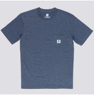 Camiseta Element: BASIC POCKET LABEL S (INDIGO HEATHER)