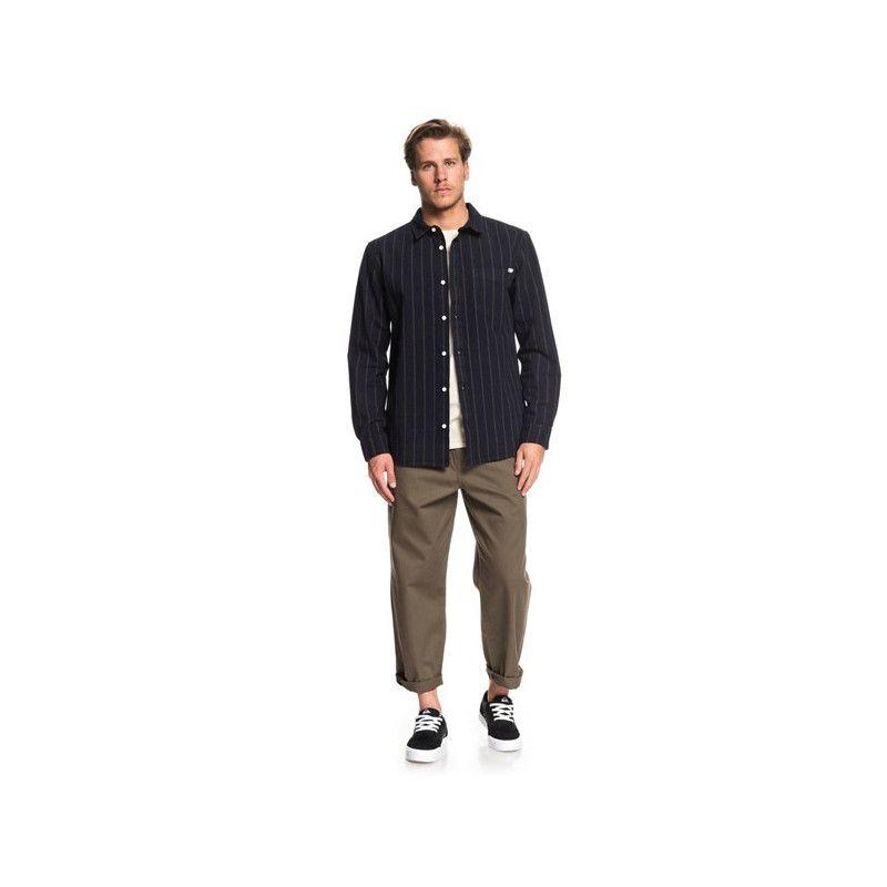 Camisa Quiksilver: GRACEFUL WAVE (SKY CAPTAIN PIN STRIPE)