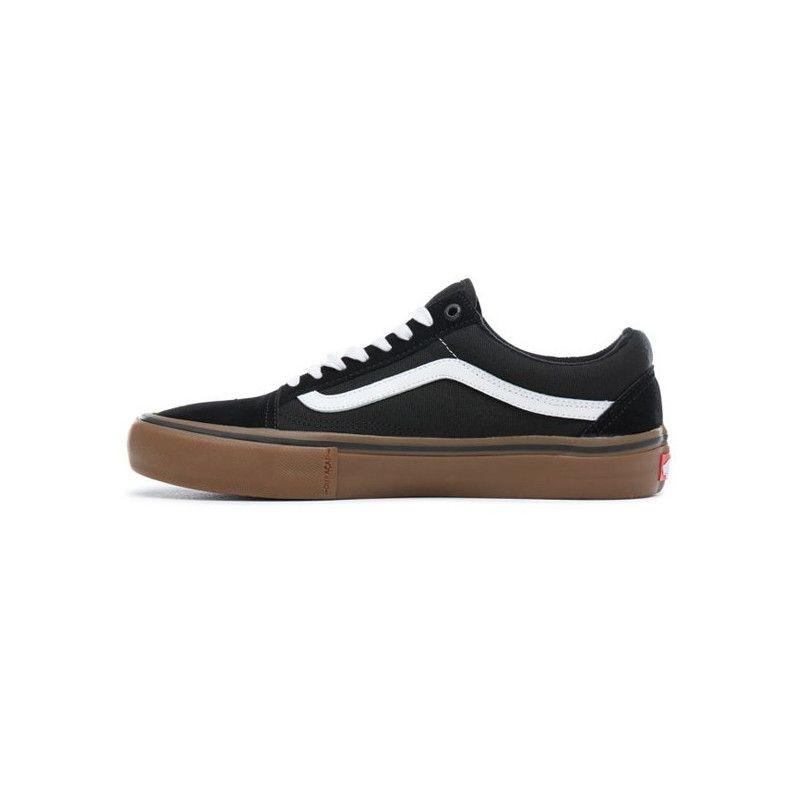 Zapatillas Vans: Old Skool Pro (BLACK WHITE MEDIUM GUM)
