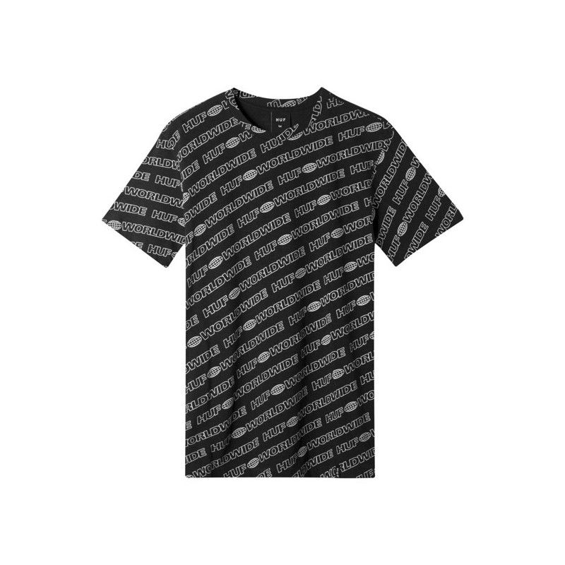 Camiseta HUF: MARATHON AO SS TEE (BLACK)