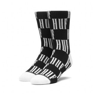 Calcetines HUF: BIG CHECKERED SOCK (BLACK) HUF - 1