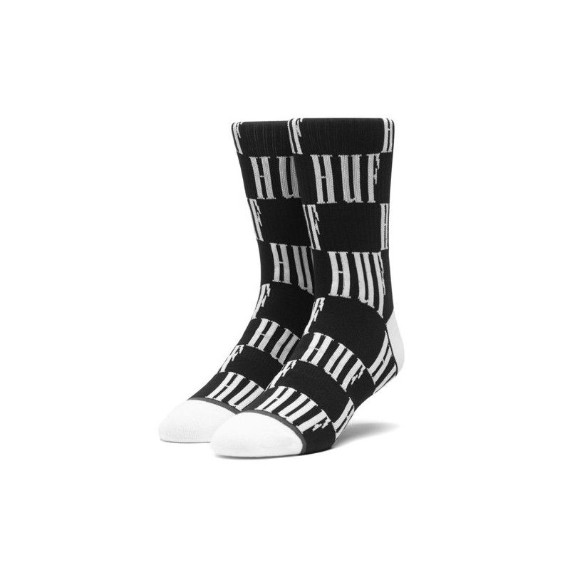 Calcetines HUF: BIG CHECKERED SOCK (BLACK)