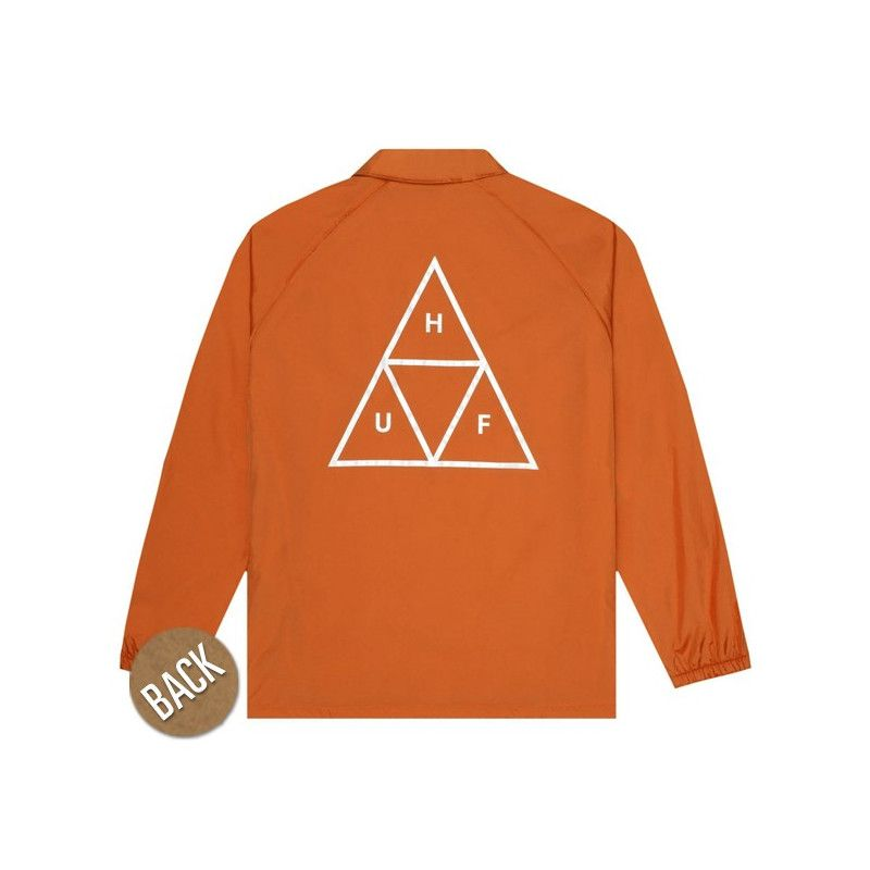Chaqueta HUF: ESSENTIALS TT COACHES JACKET (RUST)