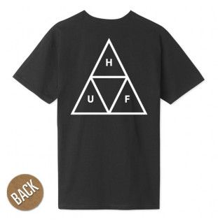 Camiseta HUF: ESSENTIALS TT SS TEE (BLACK)