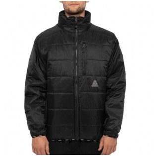 Chaqueta HUF: GEODE PUFFY JACKET (BLACK)