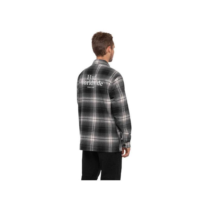 Camisa HUF: JOHN BDU LS WOVEN  SHIRT (BLACK)