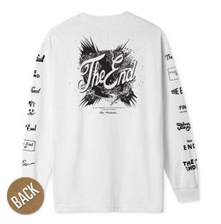 Camiseta HUF: THE END LS TEE (WHITE)
