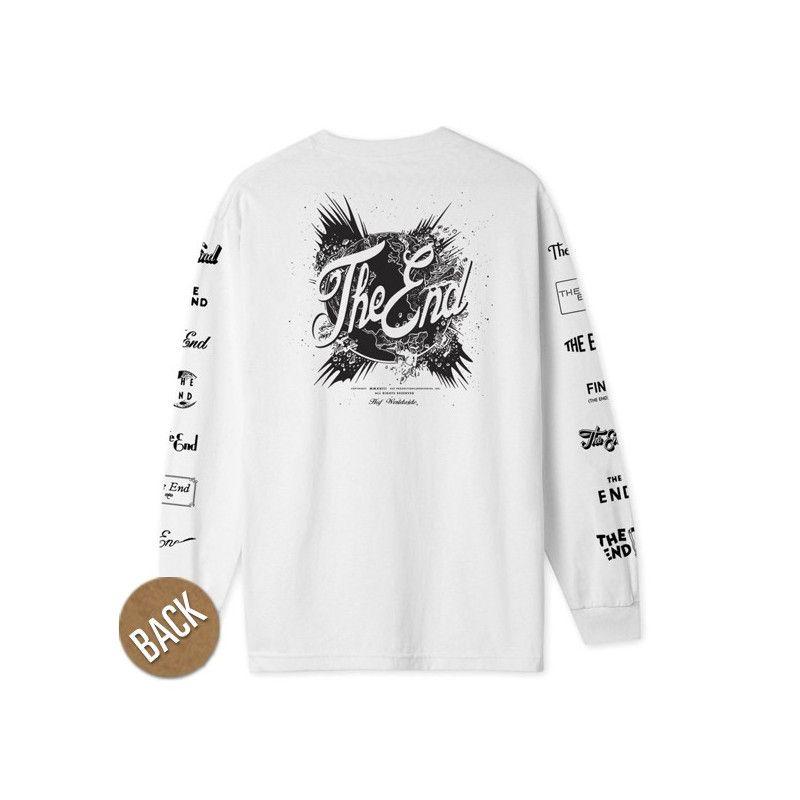 Camiseta HUF: THE END LS TEE (WHITE)
