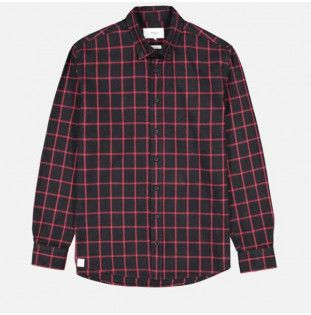 Camisa Makia: Tailgate Shirt (Dark Red)