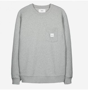 Sudadera Makia: Square Pocket Sweatshirt (Grey)