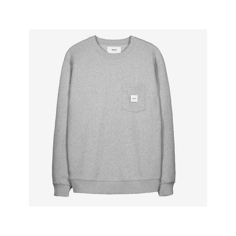 Sudadera Makia: Square Pocket Sweatshirt (Grey)