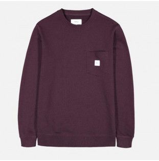 Sudadera Makia: Square Pocket Sweatshirt (Wine)