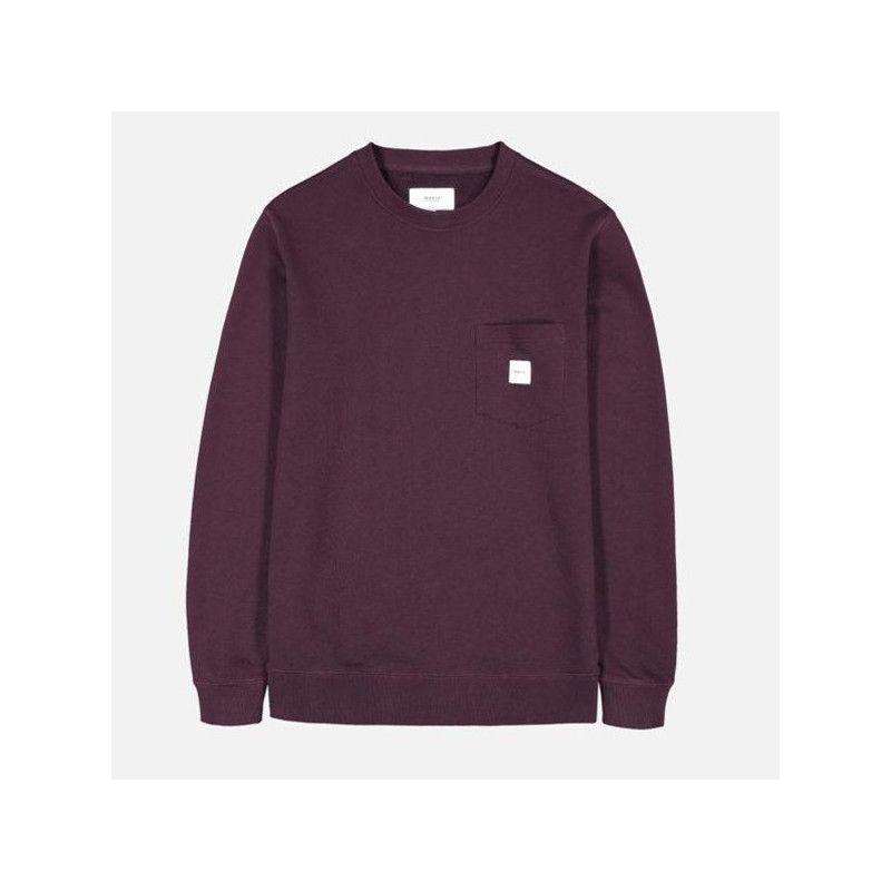 Sudadera Makia: Square Pocket Sweatshirt (Wine)