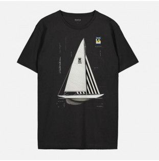 Camiseta Makia: Genoa T shirt (Black)