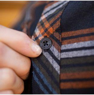 Camisa Hippytree: Signal Flannel (Black)