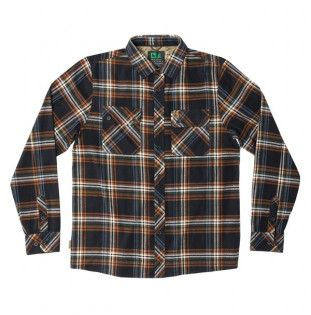 Camisa Hippytree: Signal Flannel (Black) Hippytree - 1