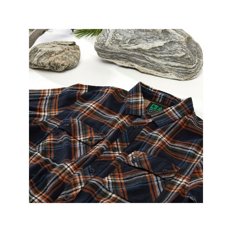 Camisa Hippytree: Signal Flannel (Black)
