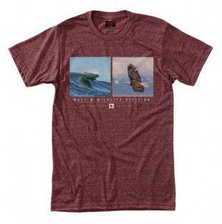 Camiseta Hippytree: Wingshore Tee (Heather Rust)