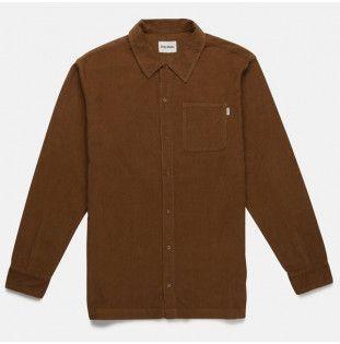 Camisa Rhythm: CORDUROY LS SHIRT (ALMOND)
