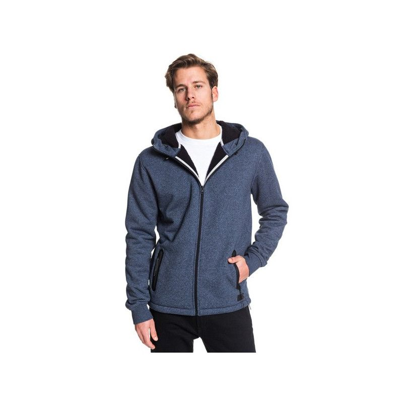 Sudadera Quiksilver: KUROW ZIP SHERPA (SKY CAPTAIN HEATHER)