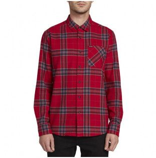 Camisa Volcom: CADEN PLAID LS (ENGINE RED) Volcom - 1