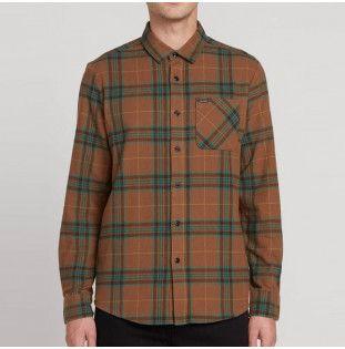 Camisa Volcom: CADEN PLAID LS (MUD) Volcom - 1