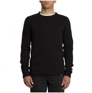 Jersey Volcom: EDMONDER SWEATER (BLACK RED) Volcom - 1