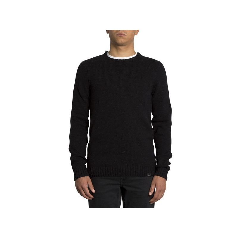 Jersey Volcom: EDMONDER SWEATER (BLACK RED)