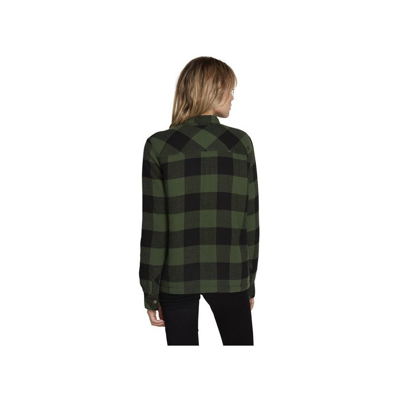 Chaqueta Volcom: PLAID ABOUT YOU LS (GREEN)