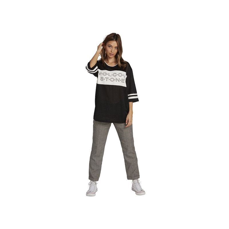 Camiseta Volcom: ROCK THE BLOX LS (BLACK)