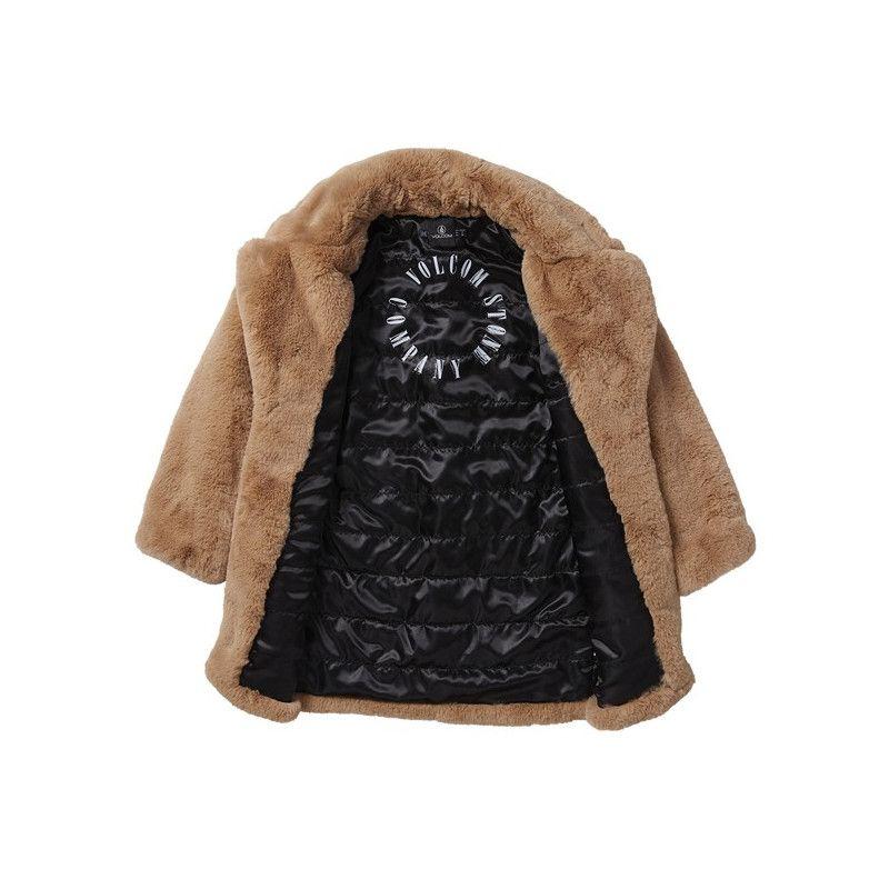 Chaqueta Volcom: PHEWFUR COAT (CAMEL)