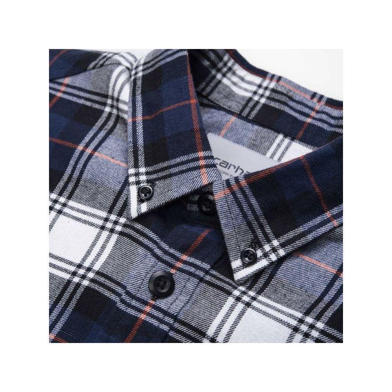 Camisa Carhartt: LS Bostwick Shirt (Bostwick Check Blue)