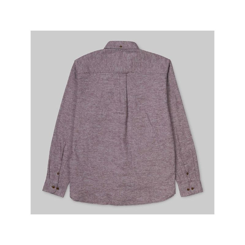 Camisa Carhartt: LS Cram Shirt (Merlot)
