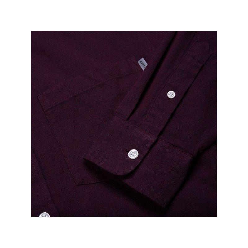 Camisa Carhartt: LS Dalton Shirt (Merlot Duck Blue)