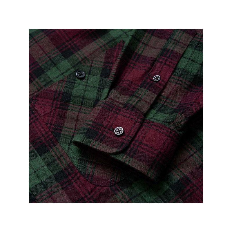 Camisa Carhartt: LS Pelkey Shirt (Pelkey Ch Chro Green Mer)