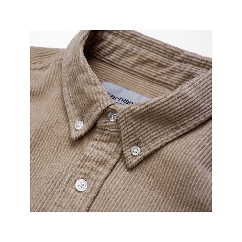 Camisa Carhartt: LS Madison Cord Shirt (Wall Black)