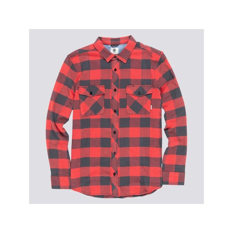 Camisa Element: TACOMA 2COLORS LS (POMPEIAN RED)