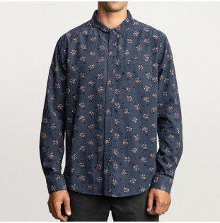 Camisa RVCA: POST WAVE CORD LS (MOODY BLUE) RVCA - 1