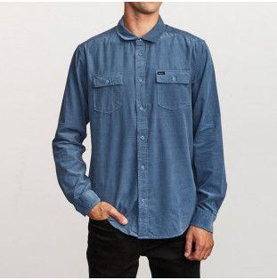 Camisa RVCA: FREEMAN CORD LS (CHINA BLUE) RVCA - 1