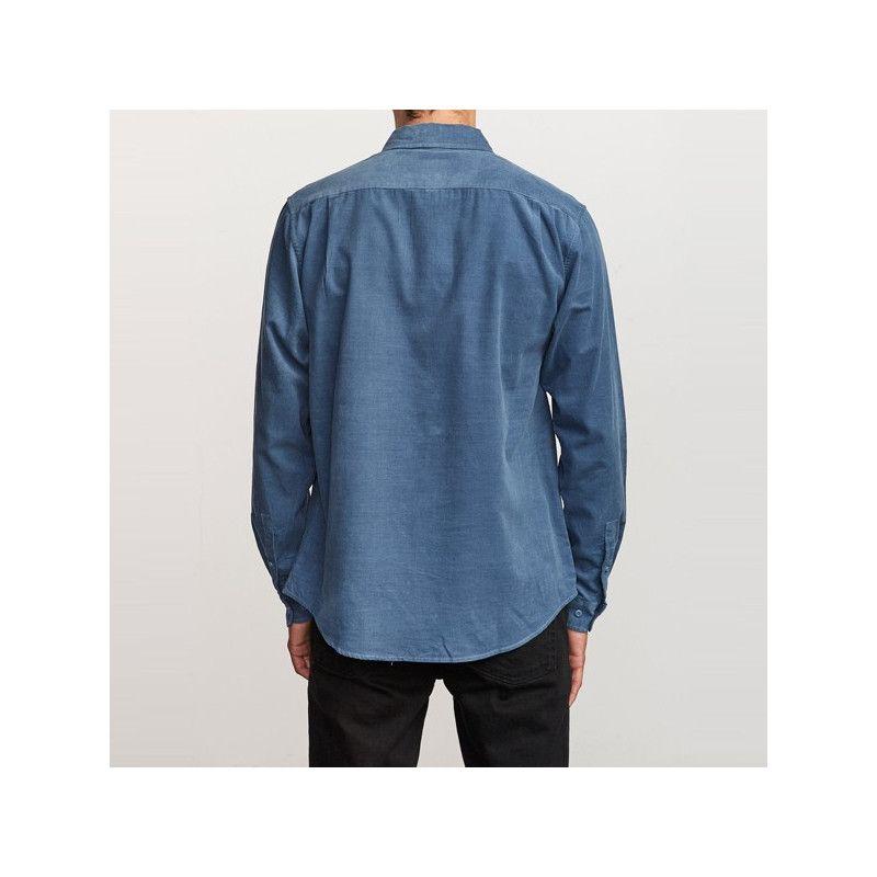 Camisa RVCA: FREEMAN CORD LS (CHINA BLUE)