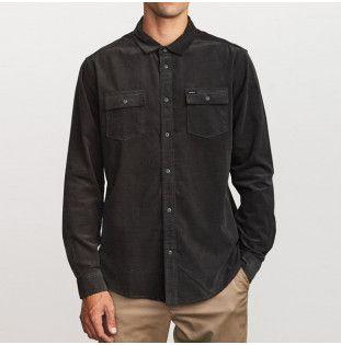 Camisa RVCA: FREEMAN CORD LS (PIRATE BLACK) RVCA - 1