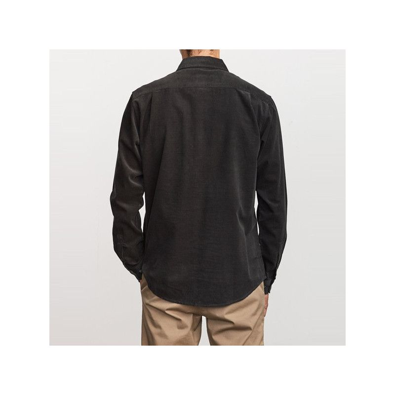 Camisa RVCA: FREEMAN CORD LS (PIRATE BLACK)