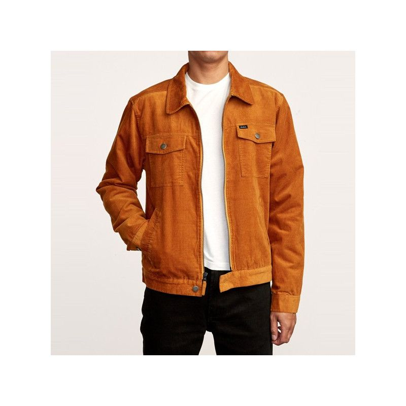 Chaqueta RVCA: EASY TRUCKER (BURNT COPPER)