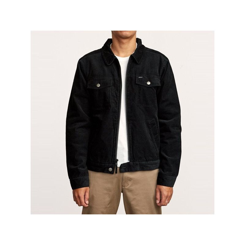 Chaqueta RVCA: EASY TRUCKER (RVCA BLACK)