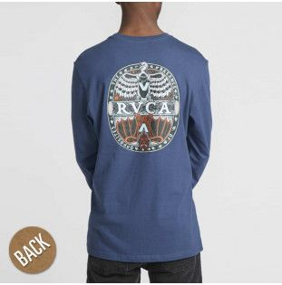 Camiseta RVCA: MANDER LS (SEATTLE BLUE)