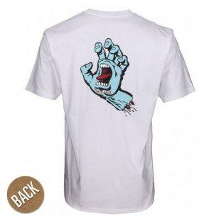 Camiseta Santa Cruz: TEE FSU HAND (WHITE)