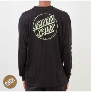 Camiseta Santa Cruz: TEE LS OPUS DOT STRIPES (BLACK)