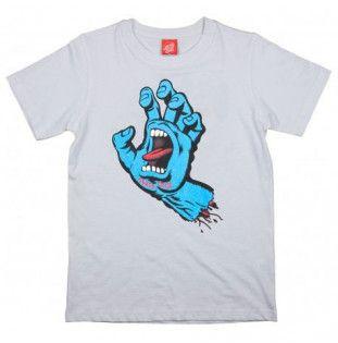 Camiseta Santa Cruz: TEE SCREAMING HAND (WHITE)