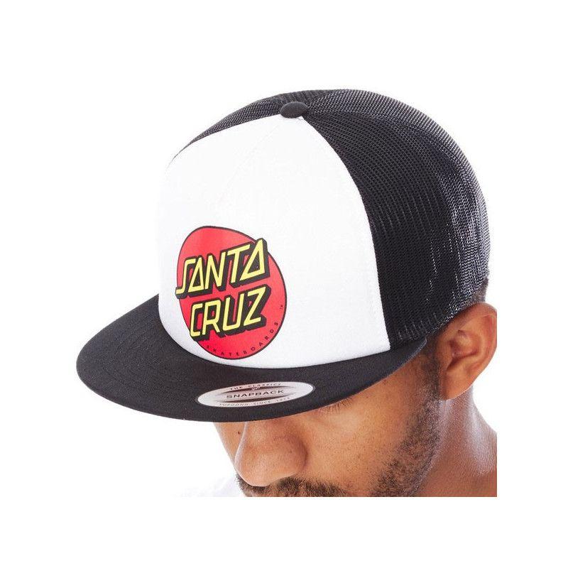 Gorra Santa Cruz: CAP CLASSIC DOT MESH (BLACK/WHITE)